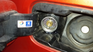 Wlew paliwa LPG Peugeot Partner